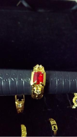 Anel De Formatura Direito Pedra Vermelha