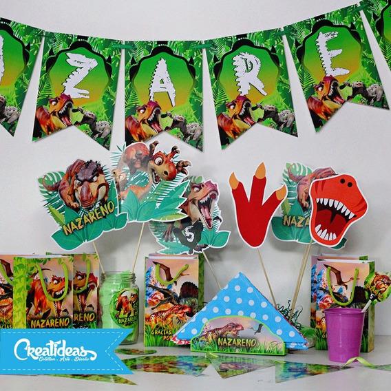Dinosaurios Promo Cotillon Personalizado P/30 Niños Completo