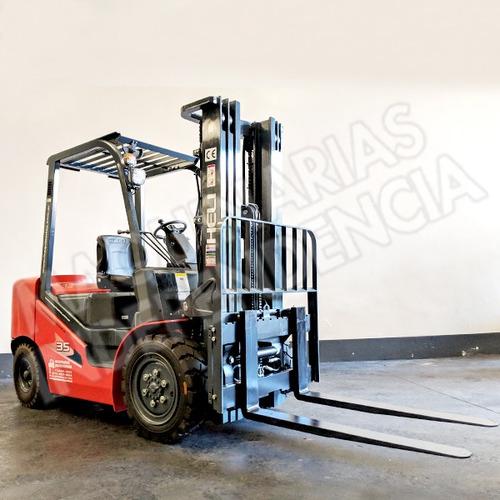 Autoelevador Heli 3500 Kg Diesel Isuzu Cpcd35 Serie H 0 Km