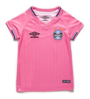 Camisa Infantil Umbro Grêmio Outubro Rosa 18/19 3g160688