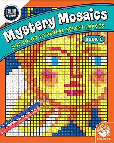 Imagen 1 de 1 de Mindware Color Por Número Misterioso Mosaicos: (libro 1)