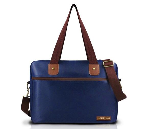 Bolsa Para Trabalho Masculina - Azul/marrom