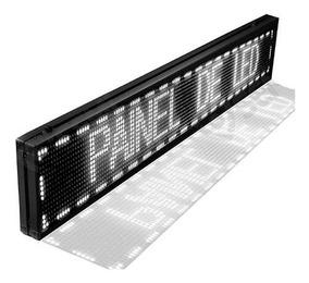 Painel Letreiro Led Digital Cor Única 100x20cm Frete Grátis