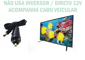 Tv Digital 12 Volts 24 Poleg Nao Usa Inversor 110/220/12 V