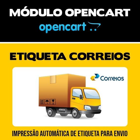 Módulo Dos Correios Gerador De Etiqueta Lojas Opencart
