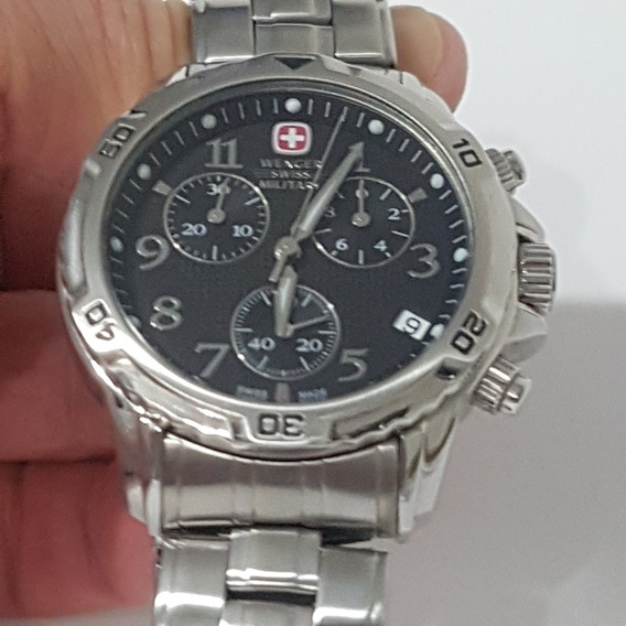 Relogio Swiss Military Cronografo Todo Original Maquina Swis