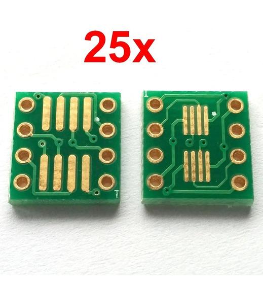 25x Adaptador Smd Sop8 Soic8 Dip8 Msop8 Vssop8 Tssop8 Sc70