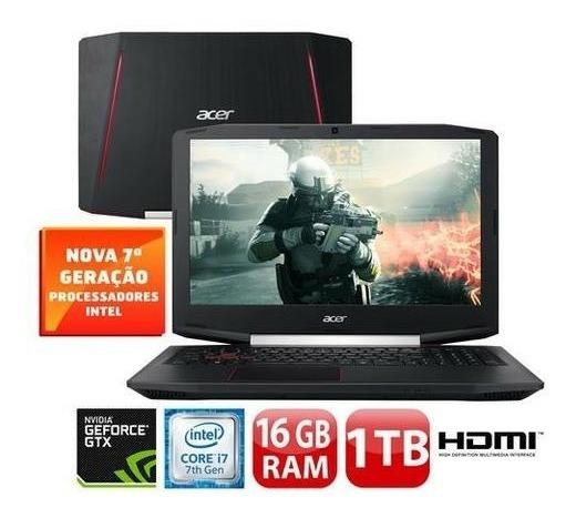 Notebook Acer Gtx 1050ti I7-7700hq 16gb Ddr4 (como Novo)