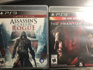 Assassins Creed Rogue, Dead Space 3, Metal Gear Solid V Ps3