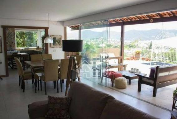 Casa Com 3 Dormitórios À Venda, 240 M² Por R$ 950.000,00 - Piratininga - Niterói/rj - Ca1008