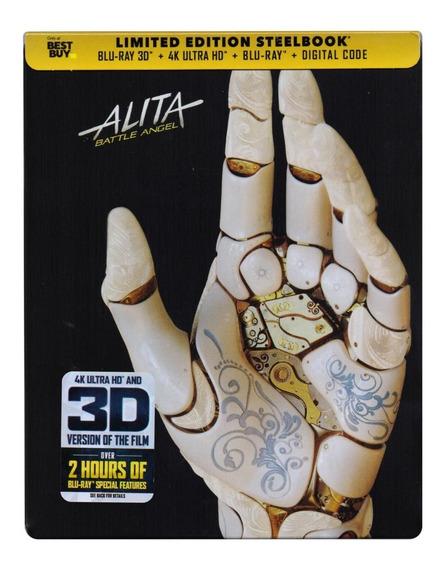Alita Battle Angel Steelbook 4k Ultra Hd + Blu-ray 3d + Bd