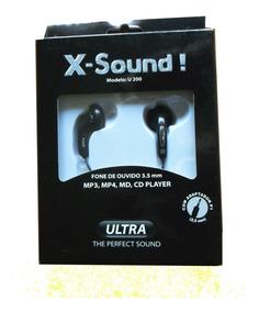 Fone De Ouvido X-sound Ultra Stereo Preto