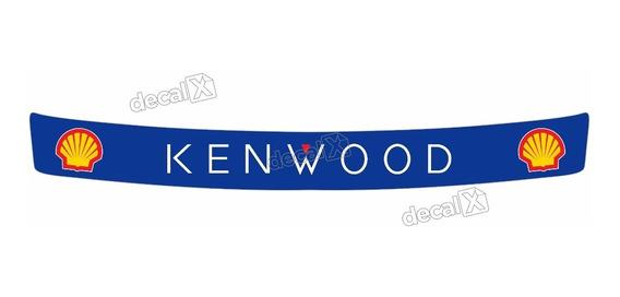 Adesivo Capacete Viseira Refletivo Kenwood 28x3 Cms Vis10 Fk