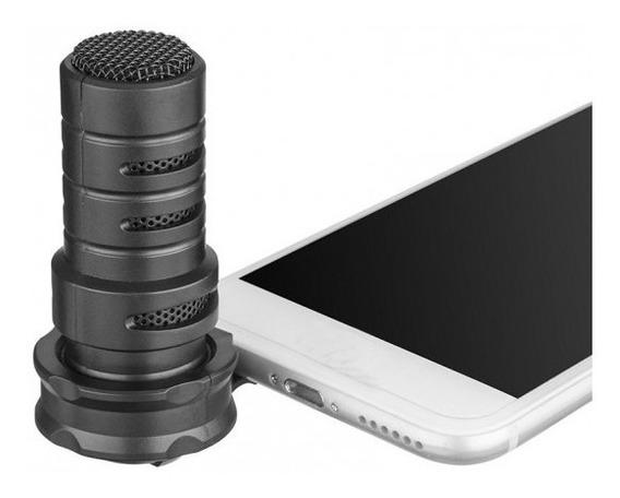 Microfone Condensador Boya Bya7h Para Smartphone iPhone