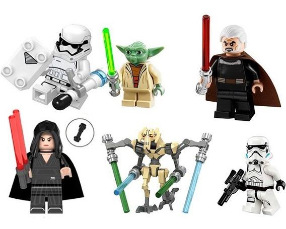 Bonecos Bloc Star Wars Kit Compativel Super Heróis Jedi Kw16