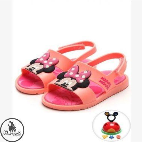 Combo Sandália Baby Mickey&minnie Grendene+casa Mickey- Rosa