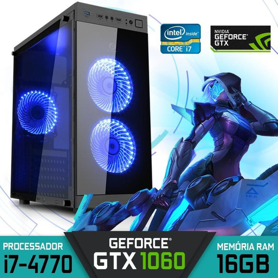 Computador Gamer Intel Core I7-4770 Ram 16gb Hd 1tb Gtx 1060