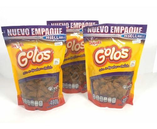 3 Bolsas Golos Tamarindo Dulce Fruta Enchilado Bokados 490g