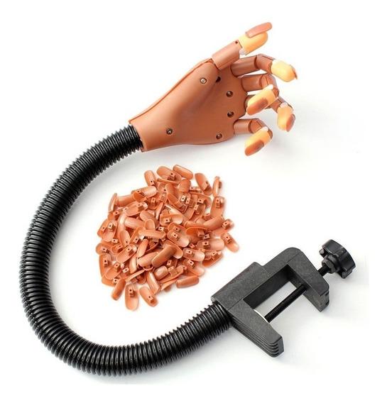 Mão Articulada Treino Manicure Unhas Gel Acrigel