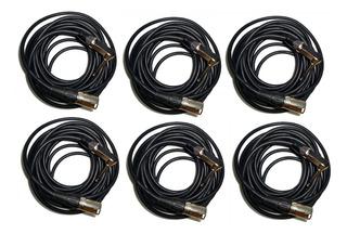 6 Cable Canon Xlr Macho A Plug Mono X 6 Mts + Regalo