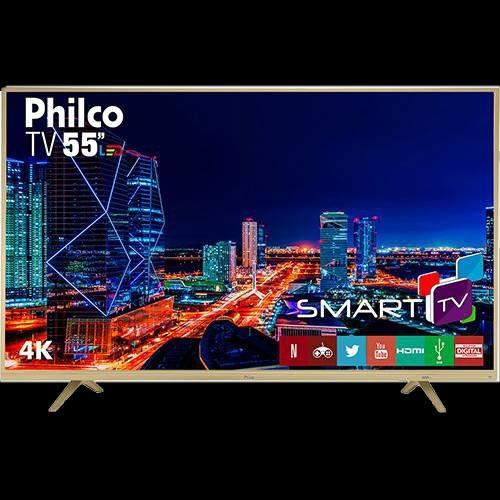 Smart Tv Led 55 Philco Ptv55u21dswnc Hd 4k Hdmi (semi Nova)