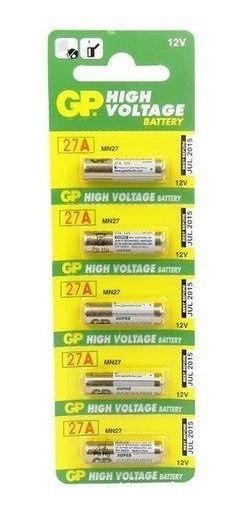 Bateria Alcalina A27 12v Gp Blister C/ 5 Peças