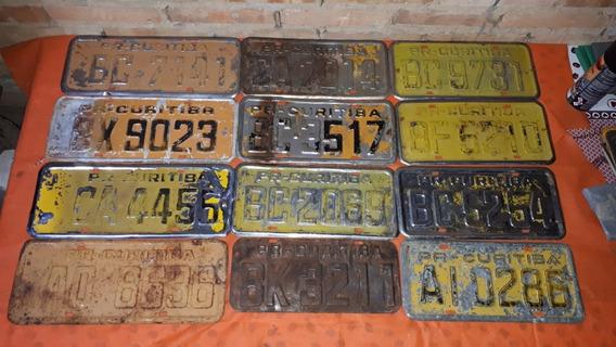 Placa Amarela Antiga De Carro Valor Unitario