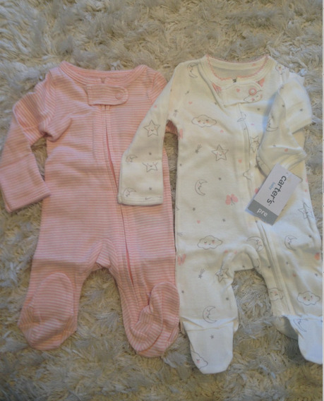 Kit 2 Pçs Macacão Pijama Carters Bebê Menino/menina Original