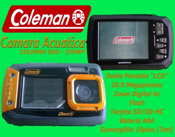 Camara Acuatica Sumergible Waterproof Coleman 20 Mp