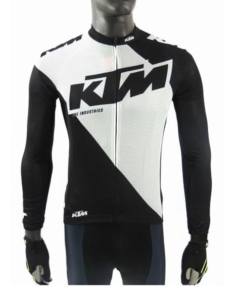 Remera / Jersey M/ Larga Ciclismo Ktm Factory Line Oficial