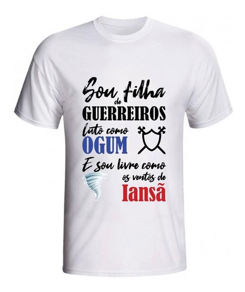 Camiseta Feminina Camiseta Masculina Iansã Ogum Umbanda