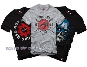 Kit 3 Camisetas. Escolha Estampas Blusa Geek Camisa Algodão