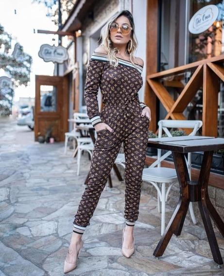 Roupa Feminina Conjunto Moda Estilosa Estampada Blogueira