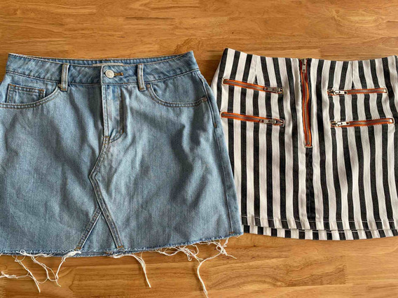 Lote 2 Polleras Mini Pacsun Y Urban Outfitters