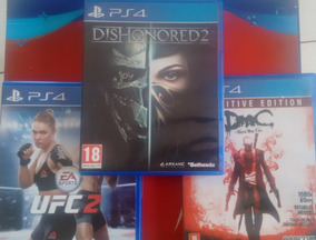 Pct De Jogos Ps4- Dmc Devil May Cry- Dishonored 2- Ufc 2
