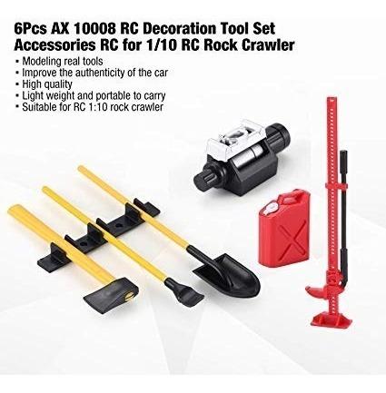 Kit Acessórios Crawler Axial Scx10 Trx4 Rc4wd D90 D110 Cc01