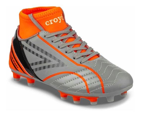 Calzado Grunch Gris-naranja Para Niño Croydon