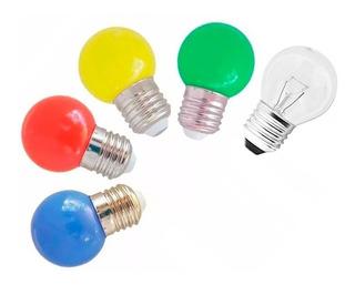 Lampara Gota 24w Color / 42w Transparente Guirnaldas Deco