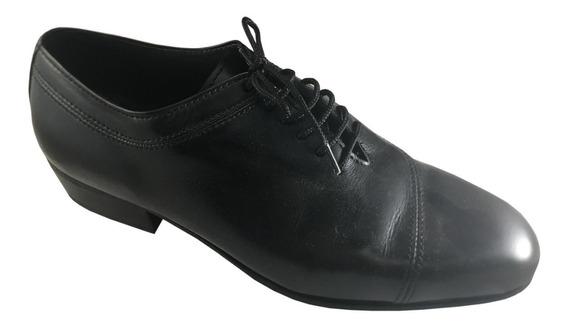 Zapatos De Baile Hombre Tango Salsa Rock Cómodo Cuero Negro