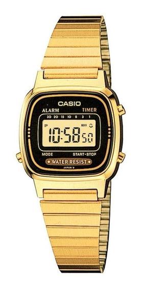 Relógio Casio Feminino La670wga-1df Vintage Mini Na Caixa