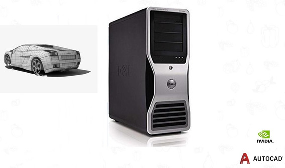 Workstation Dell T3500 12gb 12gb 2x 320gb Placa 1gb Seminovo