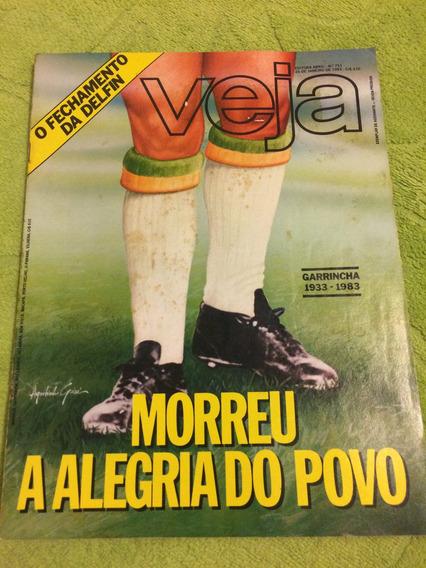 Revista Veja 83 A Morte De Garrincha Zico Vôlei David Lee R