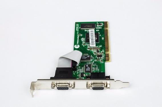 Placa De Vídeo Tn-502 Dual 16mb Pci Card