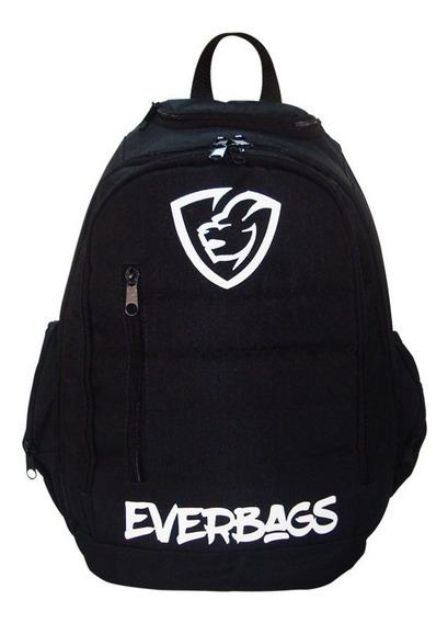 Mochila Trip Black Everbags Escolar Notebook