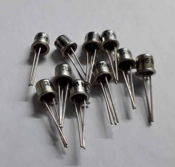 Transistor 2n 2646 Encapsulamento Metalico Kit Com 10 Peças