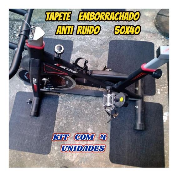 Tapete De Borracha Antiderrapante Para Uso Geral Kit Com 04
