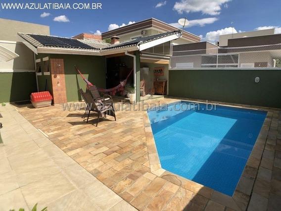 Linda Casa Em Condomínio Fechado, Atibaia Park (terras De Atibaia) Portaria, Rondas E Área De Lazer... - Ca00690 - 34697507