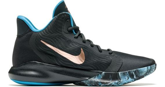 Tênis Nike Precision Iii Basquete Preto/bronze Original