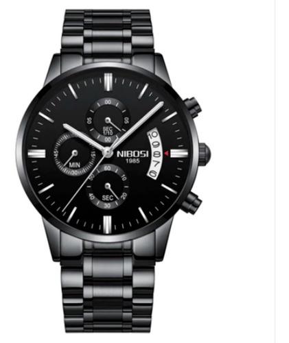 Relógio Masculino Nibosi Luxo Vidro Safira Anti-risco Lindo