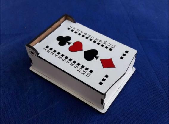 Caixa Mdf Jogo Truco - 1 Baralho - Corte À Laser